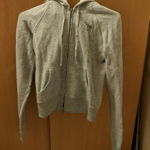 Abercrombie & Fitch grey zip up hoodie